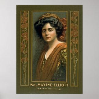 Actress Maxine Elliott 1905 Print