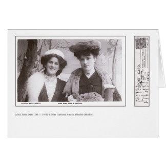 Actress Zena Dare & Mother Greeting Card
