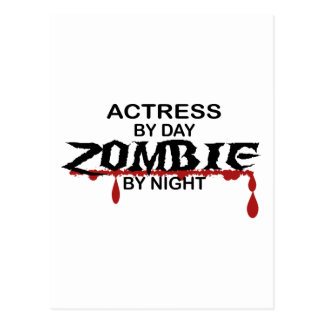 Actress Zombie Postcard