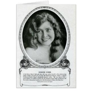 Actriz 1914 de la película muda de Byrdine Zuber Tarjeton