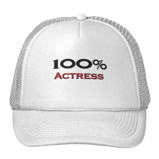 Actriz del 100 por ciento gorras