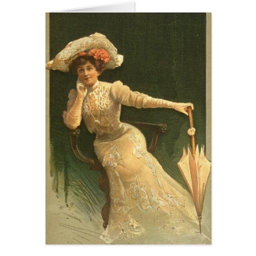 Actriz emocional 1906 tarjeta de felicitación