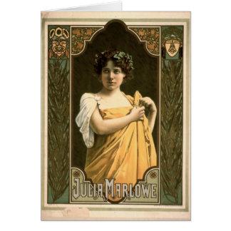 Actriz Julia Marlowe 1899 Tarjeta De Felicitación
