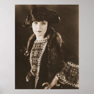 Actriz Madge Bellamy 1922 Póster