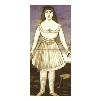 Actriz Margaret de Niko Pirosmani- Diseños De Tarjetas Publicitarias