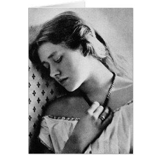 Actriz shakesperiana del 1864 de dama Ellen Terr Felicitacion