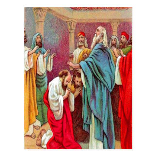Acts 13:1-3 Barnabas and Saul Sent Out postcard