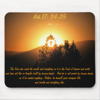 Acts 17  The God Who Made The World Mouse Pad