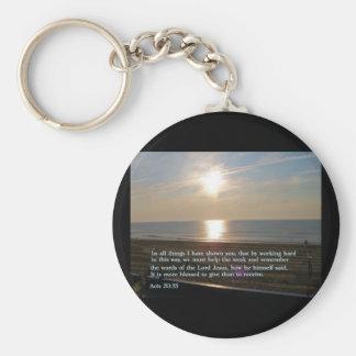 Acts 20:35  Sunrise Keychain