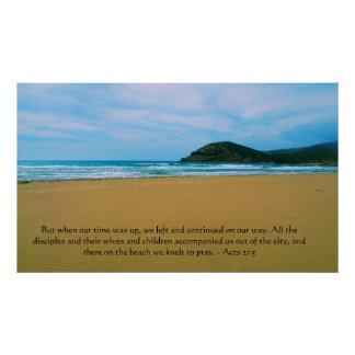 Acts 21:5 Inspirational BIBLE QUOTATION poster
