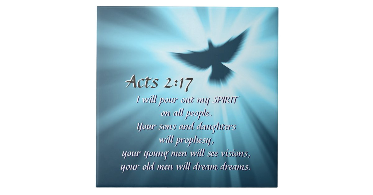 Acts 2 17 I Will Pour Out My Spirit Bible Verse Tile