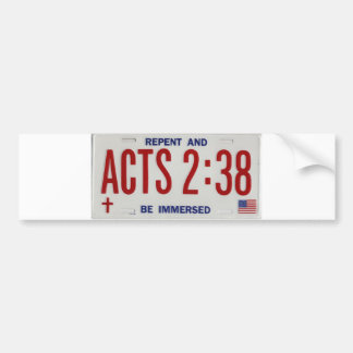 ACTS_2_38_license_plate02 Pegatina Para Auto