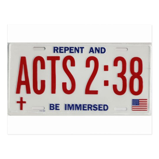 ACTS_2_38_license_plate02 Postcard