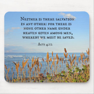 Acts 4:12 Neither is there salvation in any other. Mouse Pad