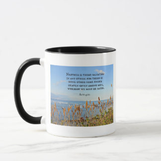 Acts 4:12 Neither is there salvation in any other. Mug