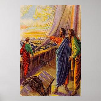 Actúa el 13:4 - 5 que navegan al poster de Chipre