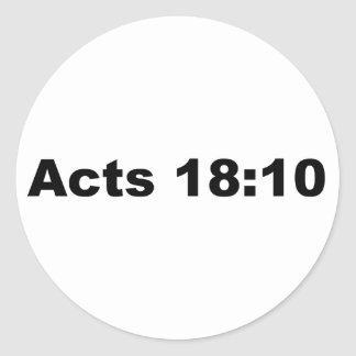 Actúa el 18:10 pegatina redonda
