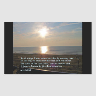 Actúa la salida del sol del 20:35 pegatina rectangular