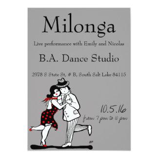 """Actuación en directo de Milonga del tango Invitación 4.5"""" X 6.25"""""""