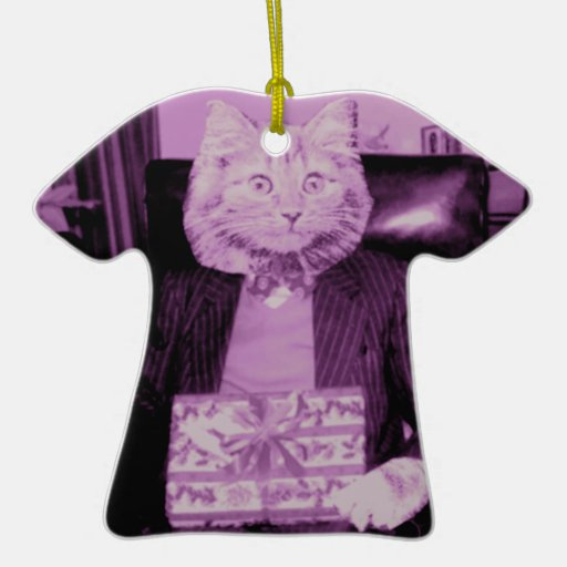 Actual gato ornamentos de navidad