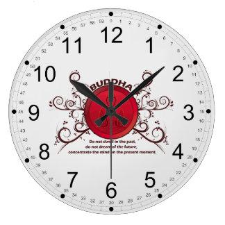 Actual momento de Buda Reloj Redondo Grande