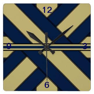 Actual reloj del azul y del oro