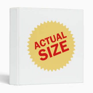 Actual Size 3 Ring Binder