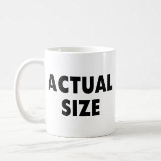 Actual Size Classic White Coffee Mug