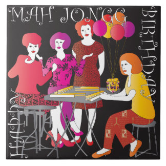 Actual teja del cumpleaños del Mah Jongg