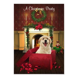 Actuales invitaciones de la fiesta de Navidad del Invitación 12,7 X 17,8 Cm
