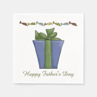 Actuales servilletas de papel del día de padre de