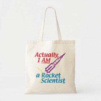 Actually, I AM a Rocket Scientist. Tote Bag