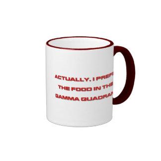 Actually, I Prefer The Food In The Gamma Quadrant Ringer Mug