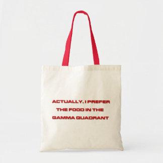 Actually, I Prefer The Food In The Gamma Quadrant Tote Bag