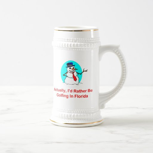 Actually, I'd Rather Be Golfing In Florida Coffee Mugs