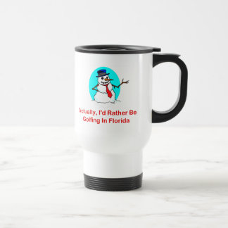 Actually, I'd Rather Be Golfing In Florida 15 Oz Stainless Steel Travel Mug