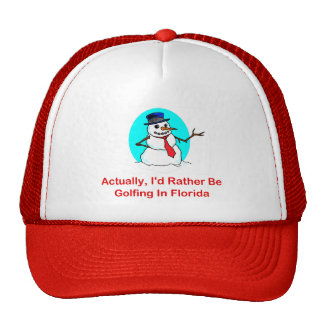 Actually, I'd Rather Be Golfing In Florida Trucker Hat