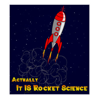 Actually, It IS Rocket Science Poster