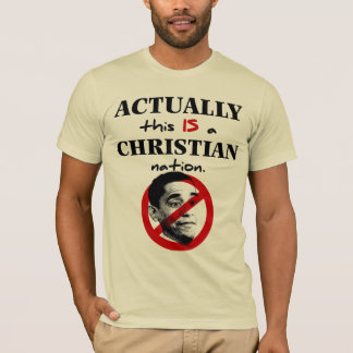Actually This Is A Christian Nation T-Shirt