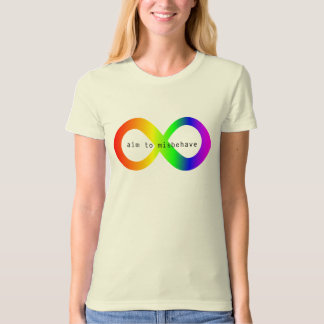 #ActuallyAutistic Aim To Misbehave T-Shirt