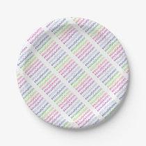 #ActuallyAutistic Paper Plate