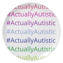 #ActuallyAutistic Plate