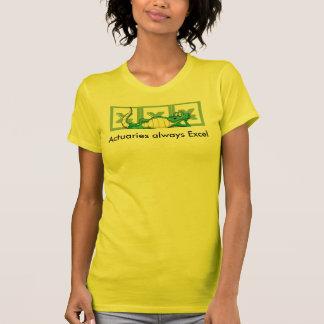 Actuaries always Excel T Shirts