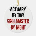 Actuario de Grillmaster Ornamentos De Navidad