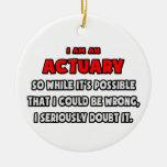 Actuario divertido. Dúdelo Ornaments Para Arbol De Navidad