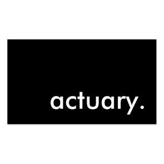 actuario plantilla de tarjeta de visita