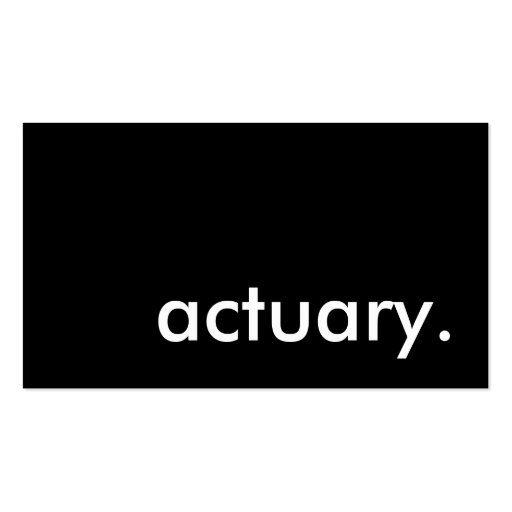 actuary. business card