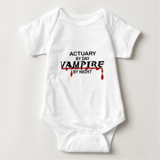 Actuary by Day, Vampire by Night Baby Bodysuit