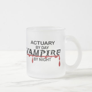 Actuary by Day, Vampire by Night Frosted Glass Coffee Mug