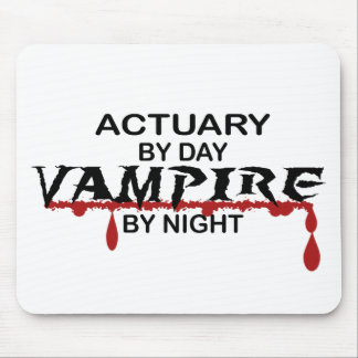 Actuary by Day, Vampire by Night Mouse Pads